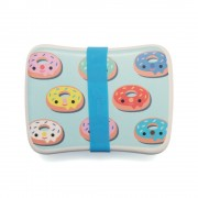 Bamboo lunchbox donuts blue BLB15 a