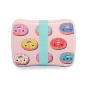 Bamboo lunchbox donuts pink BLB14 a