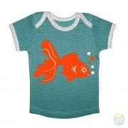Hollekebolleke_online_webshop_kinderkleding_ Retro Rock and Robots_RRR_babytee-goldfish-greendots