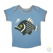 Hollekebolleke_online_webshop_kinderkleding_ Retro Rock and Robots_RRR_babytee-piranha-blue