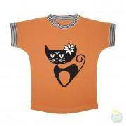 Hollekebolleke_online_webshop_kinderkleding_ Retro Rock and Robots_RRR_girlstee-catkalho-oranje