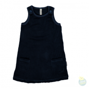 Hollekebolleke_online_webshop_kinderkleding_Maxomorra_SS17_SU17_Velours_dress_Pocket_dark_blue