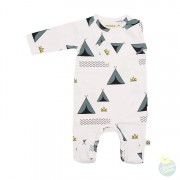 JUMPSUIT OTTO WITH FEET CAMPING JERSEY COTTON