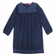 Kinderkleding online Holleke Bolleke - webshop  Lebig  LEBIG - Geborduurde Dress – Indigo blue