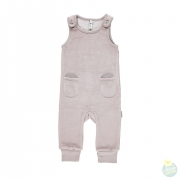 Playsuit velours pocket grey