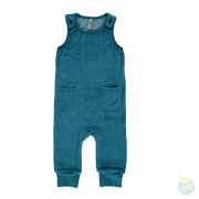 Playsuit velours pocket petrol
